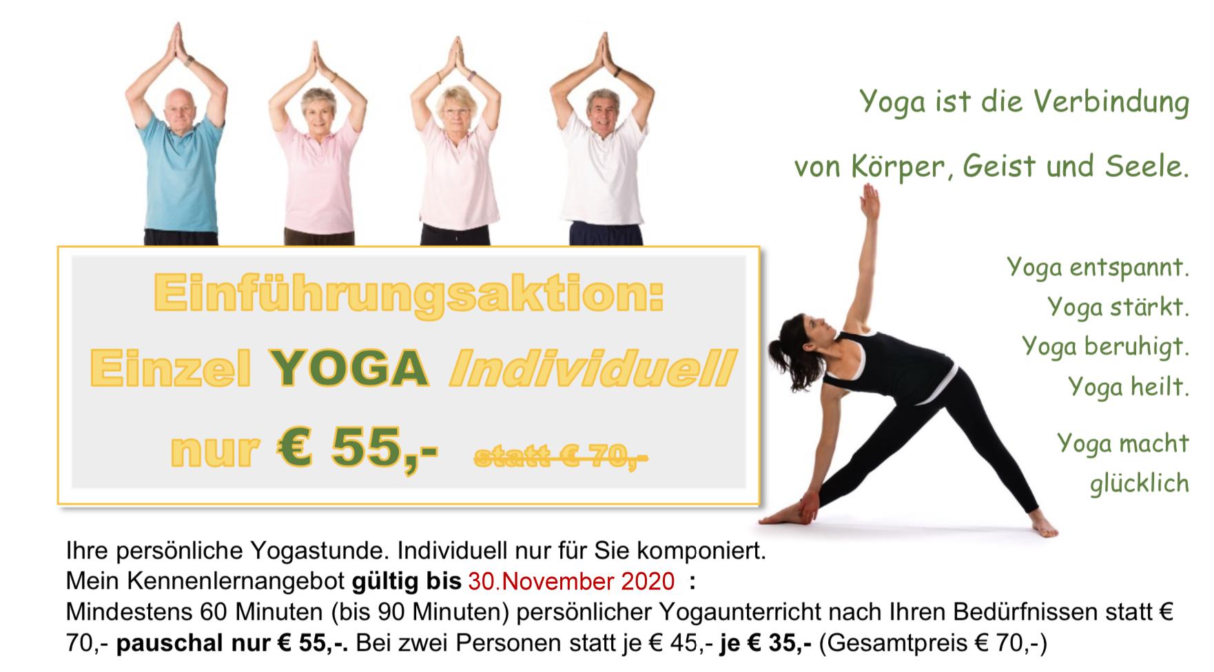 Individual Yoga Gutschein